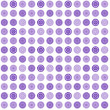 Lilac seamless abstract pattern with round shapes Stock Images
