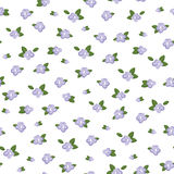 Lilac seamless flower pattern Royalty Free Stock Photos
