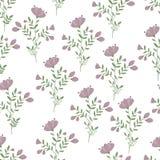 Lilac seamless nature pattern. Hand drawn. Art illustration Royalty Free Stock Photography