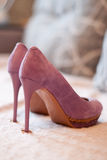 Lilac shoes Royalty Free Stock Image