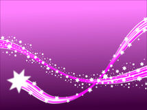 Lilac Shooting Stars Royalty Free Stock Photo
