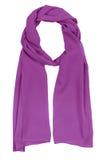 Lilac silk scarf Stock Image