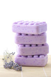 Lilac soap and lavander Royalty Free Stock Images