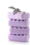 Lilac soap and lavander Stock Photo