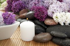 Lilac spa Royalty Free Stock Images