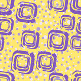 Lilac square and circles Royalty Free Stock Images