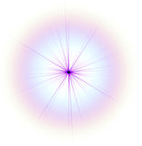 Lilac star isolated Stock Photos