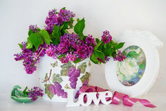 Lilac still life Royalty Free Stock Photos