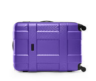 Lilac suitcase plastic. lying on its side Stock Photography