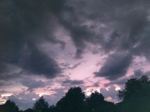 Lilac Sunset Royalty Free Stock Photo