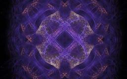 Lilac symmetrisch patroon Stock Foto