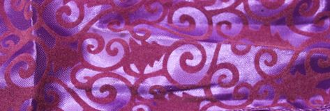 Lilac textile background with velvet patterns stock photography