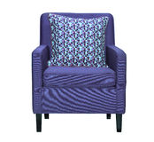 Lilac textile chair isolated Royalty Free Stock Image