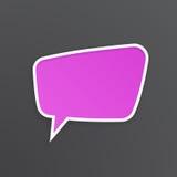 Lilac toespraakbel voor bespreking bij trapezoïdale vorm vector illustratie