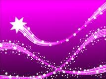 Lilac Vallend sterren stock illustratie