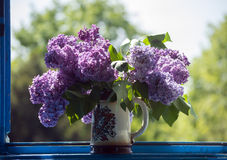 Lilac in a Vase - horizontal Royalty Free Stock Photography