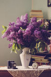 Lilac in a Vase indoors Stock Image