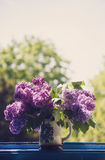 Lilac in a Vase -vertical Royalty Free Stock Images