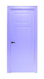 Lilac violet room door isolated Stock Photography