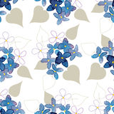 Lilac watercolor  flower seamless pattern Royalty Free Stock Photography