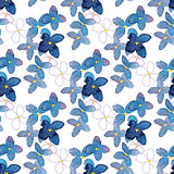 Lilac watercolor  flower seamless pattern. On white background fabric paper design Royalty Free Stock Image