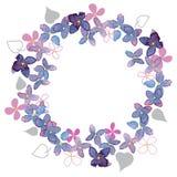 Lilac waterverfgrens Royalty-vrije Stock Foto's