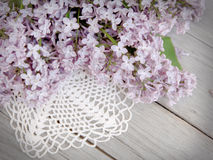 Lilac on weathered wood Royalty Free Stock Images