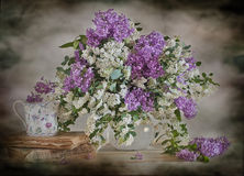 Lilac-white bouquet Royalty Free Stock Image