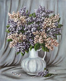 Lilac in a white porcelain jug Royalty Free Stock Photography