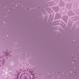 Lilac winter frame. Vector illustration Stock Photography
