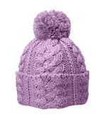Lilac winter hat Royalty Free Stock Photography