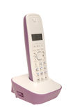 Lilac wireless telephone Stock Photos