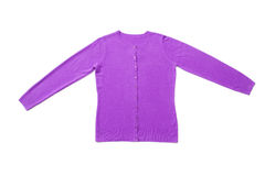 Lilac woman knitted blouse Royalty Free Stock Images