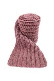 Lilac wool scarf isolated on white background. Royalty Free Stock Photography