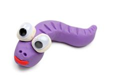 Lilac worm Stock Images
