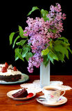 Lilacs and Tea Royalty Free Stock Images