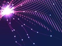 Lilanätverk från linjer och partikelbakgrund Vektorbaksida Arkivfoto