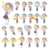 Lilan beklär farmor 2 vektor illustrationer
