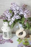 Lilas, lilas dans un vase Photos stock