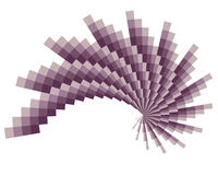 Lilaspirallek Arkivfoton