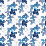 Lilego akwarela kwiatu bezszwowy wzór Obraz Royalty Free
