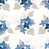 Lilego akwarela kwiatu bezszwowy wzór Fotografia Royalty Free