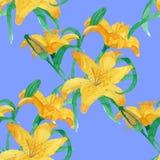 Lili seamless pattern Royalty Free Stock Photos