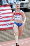 Lilia Molgacheva from Russia track athlete Royalty Free Stock Photography