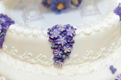 Liliac on Wedding Cake Royalty Free Stock Photo