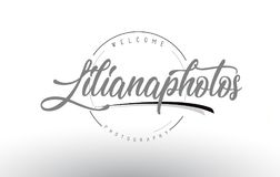 Liliana Personal Photography Logo Design με το όνομα φωτογράφων Στοκ Εικόνες