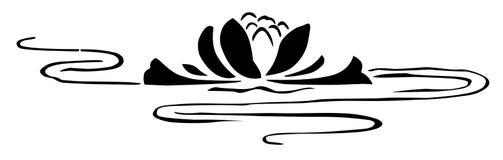 Lilie auf dem Wasser Stockbilder