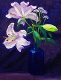 Lilie auf Tabelle Lizenzfreie Stockfotos