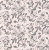 Lilie, die nahtloses Muster zeichnet Lizenzfreies Stockfoto