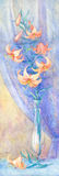 Lilien im Vase Lizenzfreie Stockfotografie